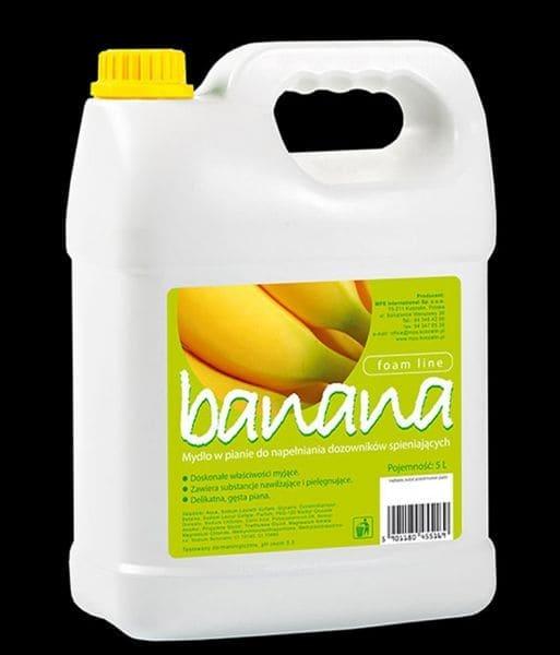 Mydło pianowe o bananowym zapachu