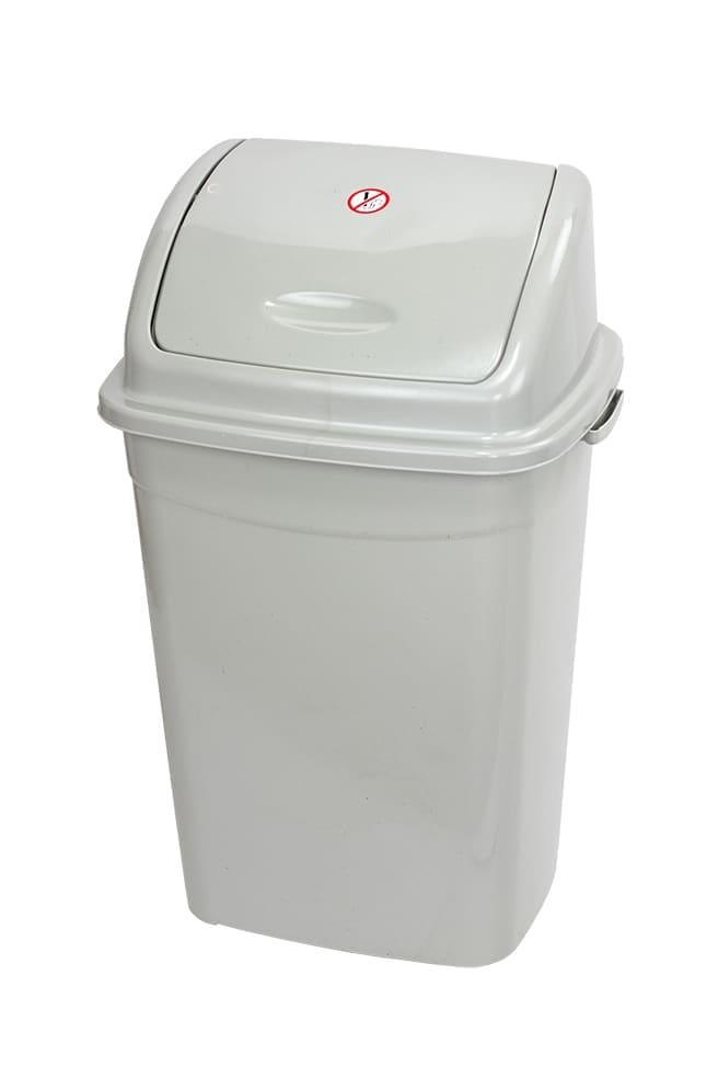 Kosz plastikowy z uchylną pokrywą - KU16T