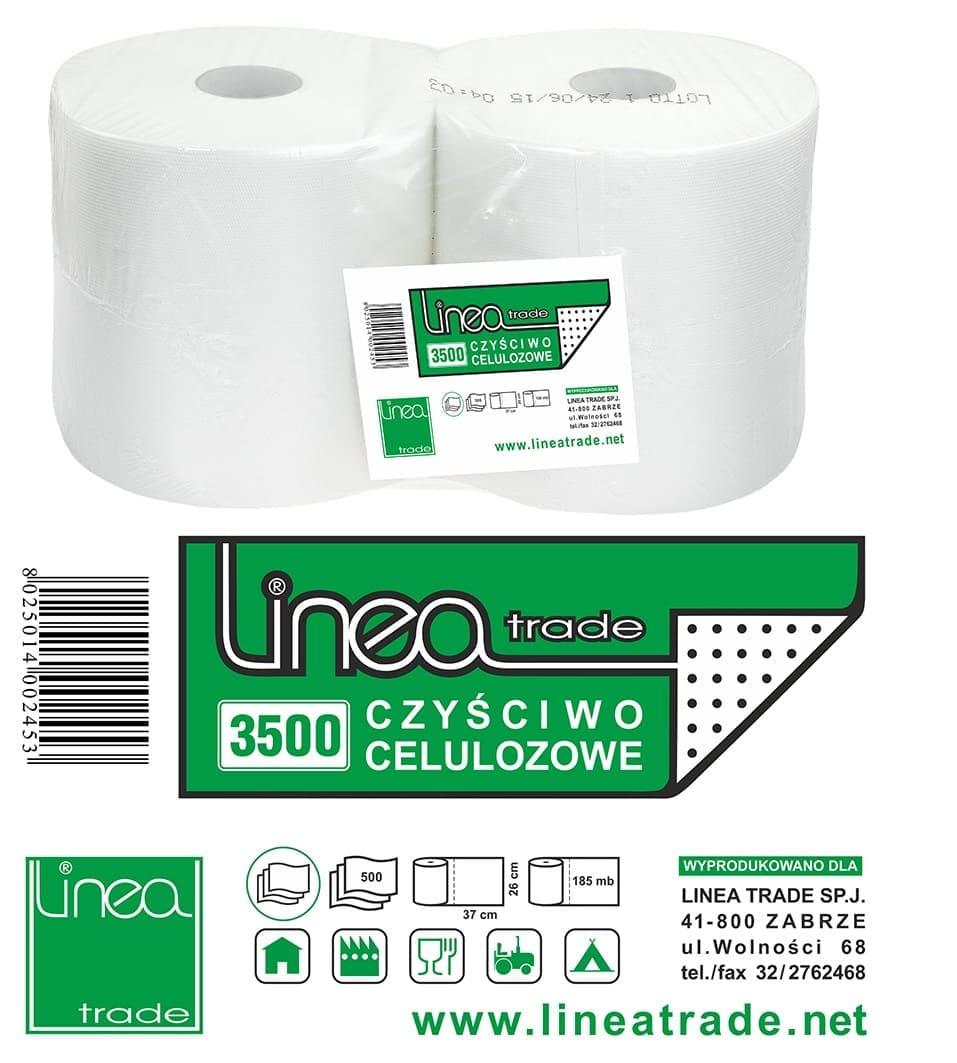 Czyściwo celulozowe białe 3-warstwowe 3500