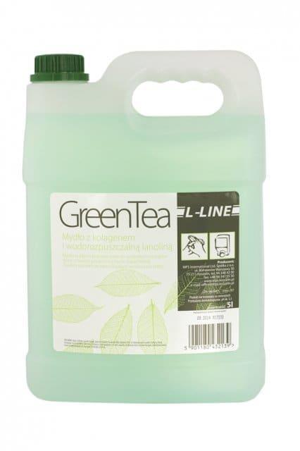 Mydło z gliceryną, kolagenem, lanoliną i elastyną  L-Line Green Tee