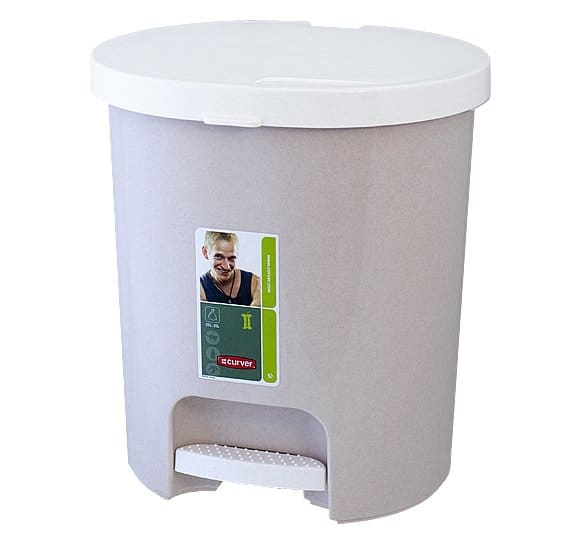 Plastic bin opened with a pedal button KP-25 CURVER
