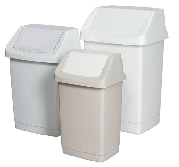Plastic bin with a hinged lid  KU