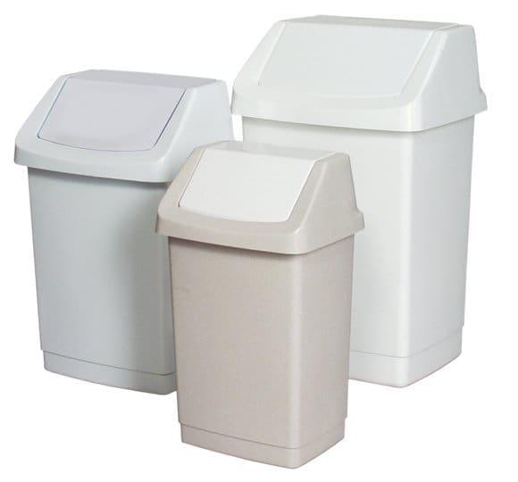 Plastic bin with a hinged lid  KU