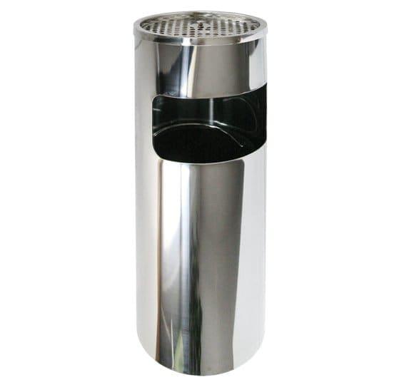 Shiny metal ashtray