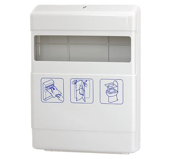 Container for toilet seat overlays 4039