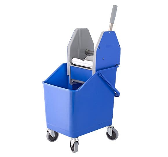 25 litres container on wheels with a squeezer 02.860